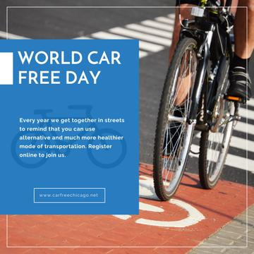 Man riding bicycle on World Car Free Day