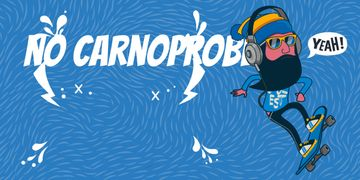 no car no problem illustration with skateboarder