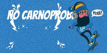 no car no problem illustration with skateboarder