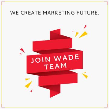 Marketing Team invitation on Red Ribbon