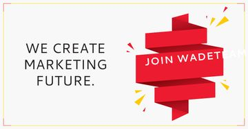 We create marketing future poster