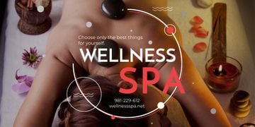 Wellness spa website poster