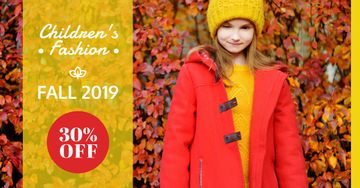 Autumn Sale Girl in Warm Clothes