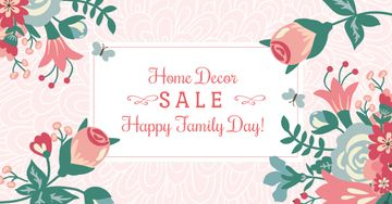 Home decor Sale with Flowers on Family Day
