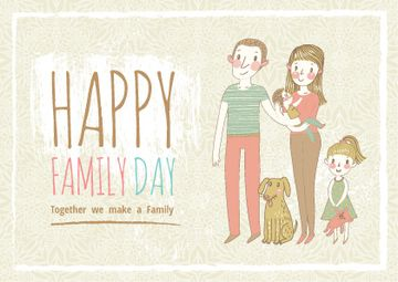 Happy family day Greeting