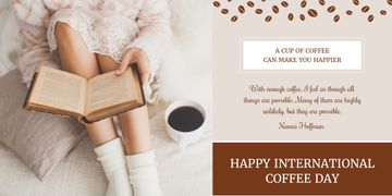 Happy international coffee day poster
