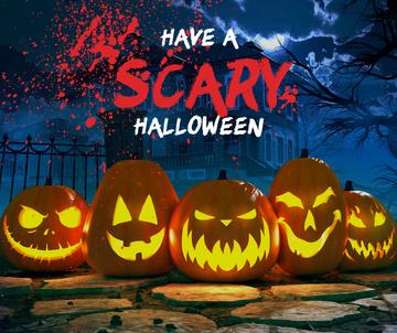 Halloween holiday greeting with Pumpkin
