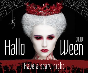 Halloween greeting with scary Woman