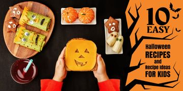 Halloween recipes and ideas for kids poster