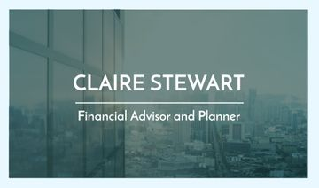 Financial Advisor Services with Glass Building