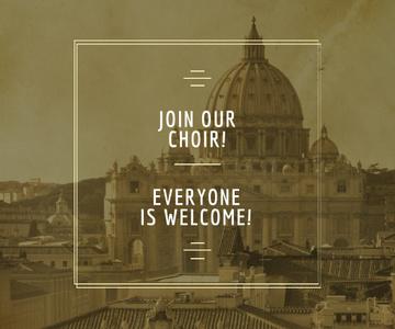 Invitation to religion choir