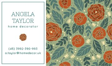 Decorator Contacts with Roses Pattern