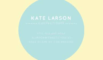 Confectioner Contacts with Circle Frame in Blue