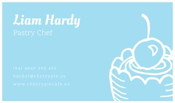 Pastry Chef Contacts with Cake and Cherry