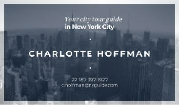 City Tour Guide Ad with Skyscrapers in Blue