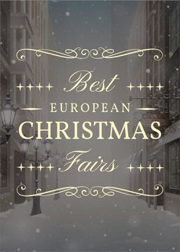 Christmas Fairs Guide Town in Snow