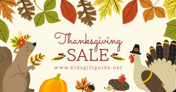 Thanksgiving Sale with Cute Animals