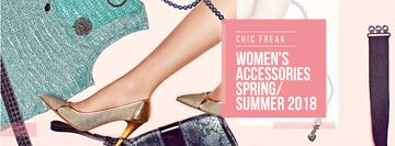 New collection of female accessories