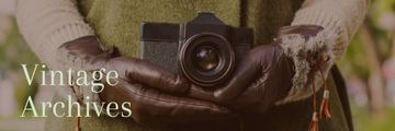 Vintage archives with Old Fashioned Camera
