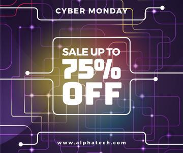 Cyber Monday Sale on Digital network pattern