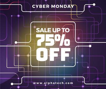 Cyber Monday Sale on Digital network pattern