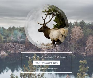 Eco Blog ad with Wild Deer