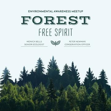 Ecological Event invitation with Forest view