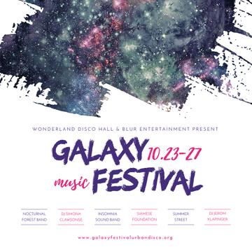 Galaxy Music festival with dark sky