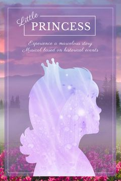 Fairy Tale cover with Princess silhouette