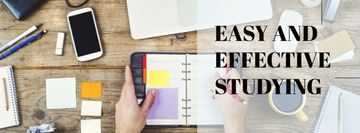 Easy and effective studying with Stationery and smartphone