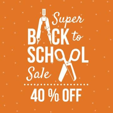 Back to School sale with stationery