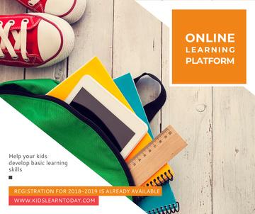 Online learning platform stationery