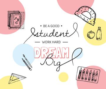 Education Quote and Stationery sketches