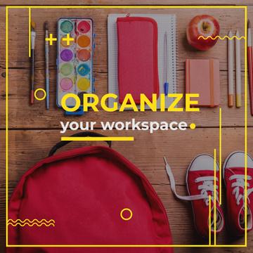 Pupil's workspace organization