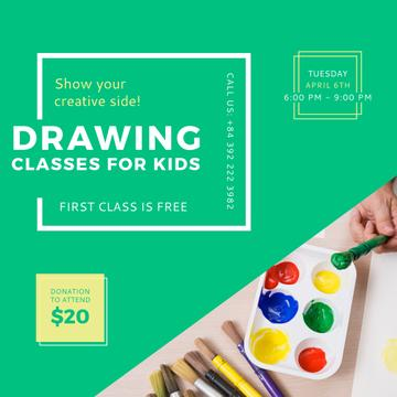 Advertisement for Drawing lessons for Kids
