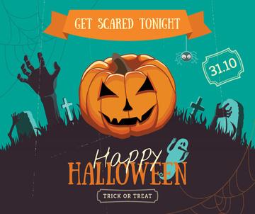 Halloween holiday invitation with Pumpkin