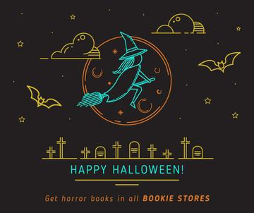 Halloween holiday offer with Witch flying