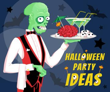 Halloween holiday Skeleton at Party