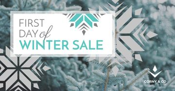 First day of winter sale poster