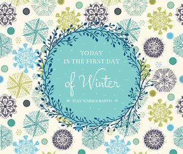 Today is first day of winter poster