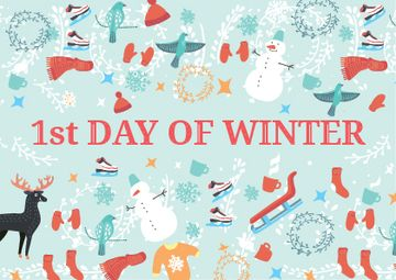 First day of winter with Winter Attributes