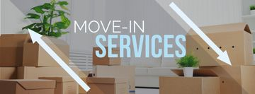 Move-in services with boxes