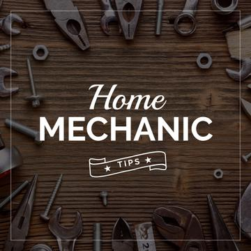Home mechanic tips with Tools on Table