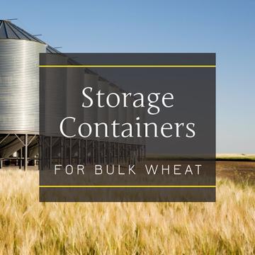 Storage containers in Wheat field
