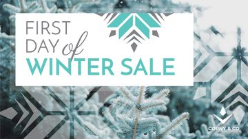 First day of Winter sale with frozen fir