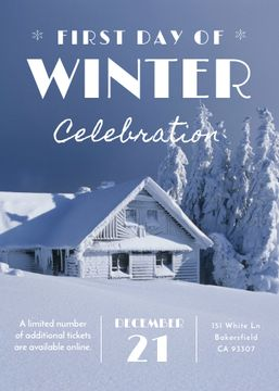 First day of winter celebration in Snowy Forest