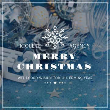 Merry Christmas Greeting with Festive Decoration