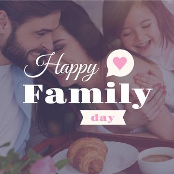 Happy Family Day with Family on Breakfast