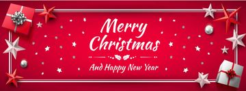 Merry Christmas card in Red color