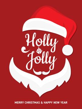 Christmas Holiday greeting Santa Claus